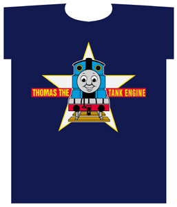 Thomas Star in Background T-Shirt